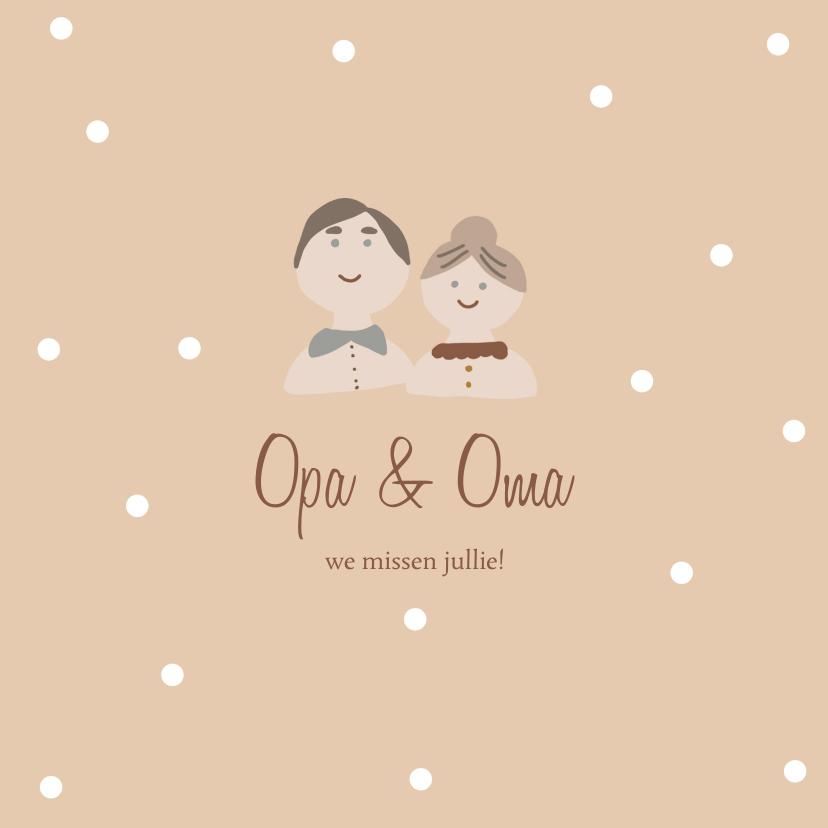 Opa en Oma kaarten - Kaart Opa en Oma poppetjes