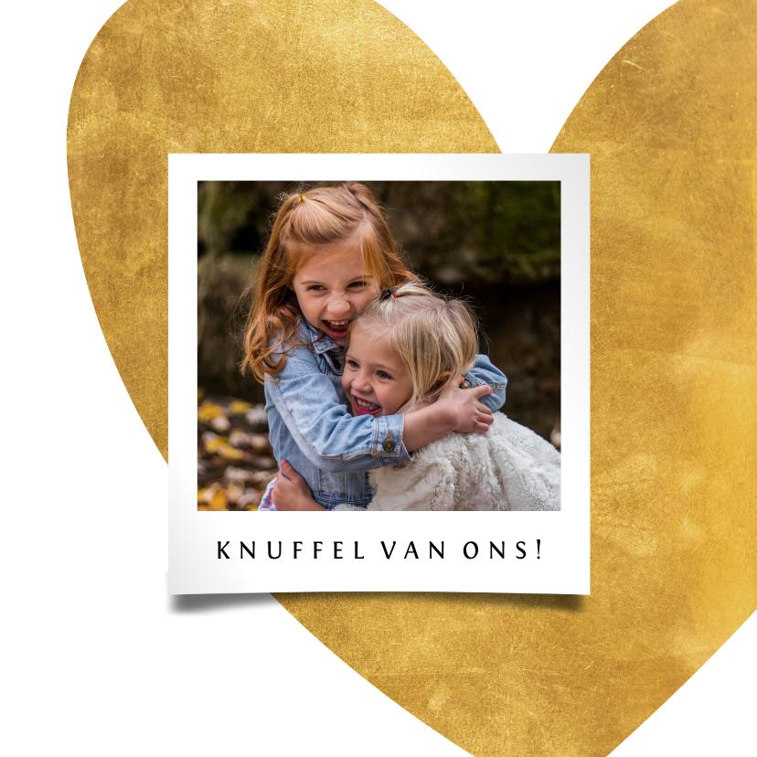 Opa en Oma kaarten - Opa en oma kaart gouden hart met foto