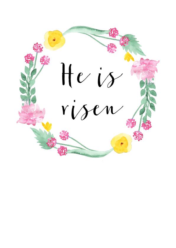 Paaskaarten - Christelijke paaskaart Bloemen
