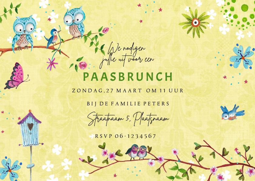 Paaskaarten - Paas Brunch Uitnodiging