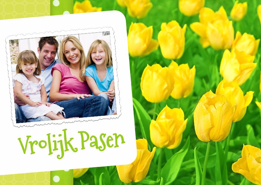 Paaskaarten - Paas kaart bloemen Tulpen