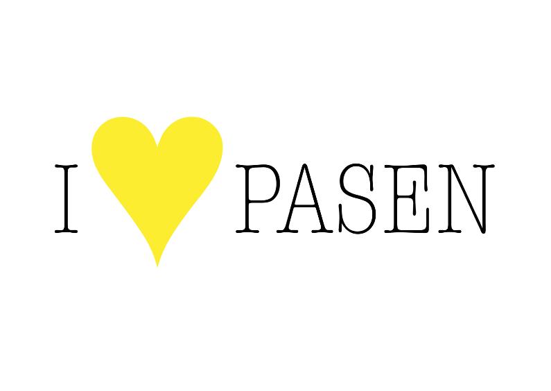 Paaskaarten - Paaskaart - I Love Pasen