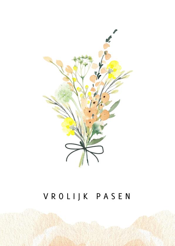 Paaskaarten - Paaskaart lente boeket