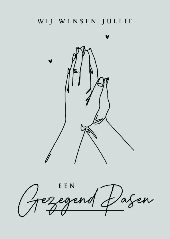 Paaskaarten - Paaskaart religieus stijlvol christelijk gezegend zalig