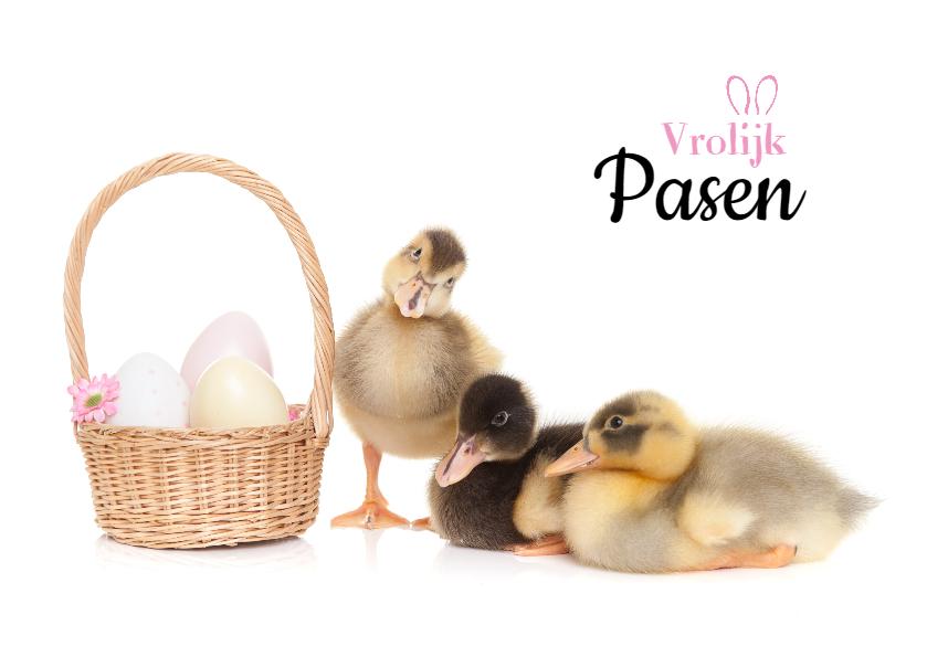 Paaskaarten - Pasen - Vrolijke paas eendjes