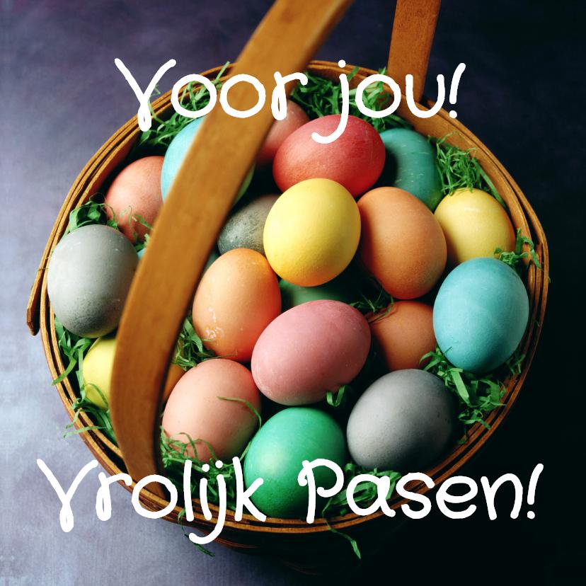 Paaskaarten - Voor jou! Vrolijk Pasen!