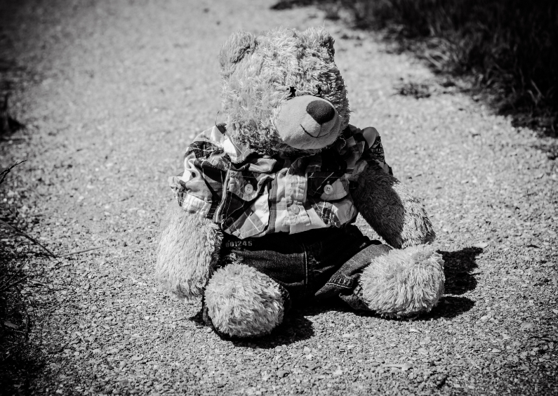 Rouwkaarten - bear