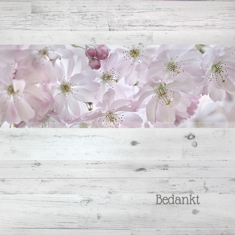 Rouwkaarten - Bedankkaart  met bloesem