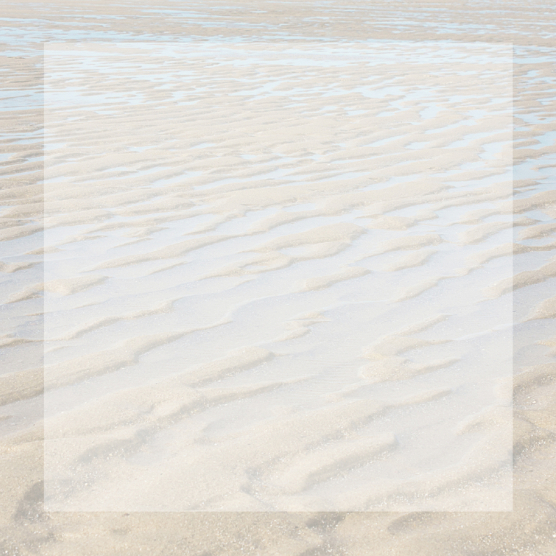 Rouwkaarten - Bedankkaart met strand