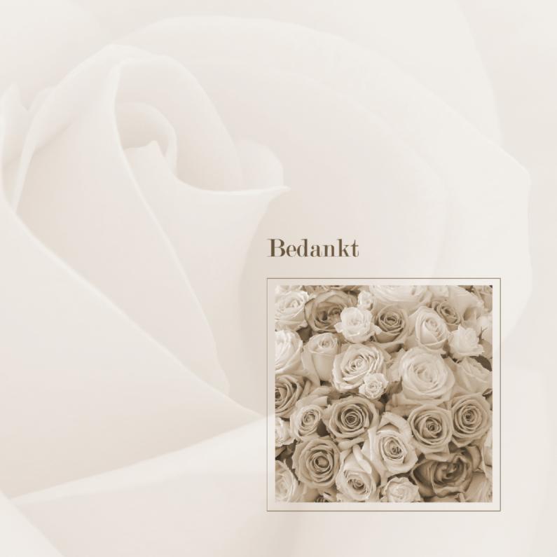 Rouwkaarten - Bedankkaart na overlijden - rozen
