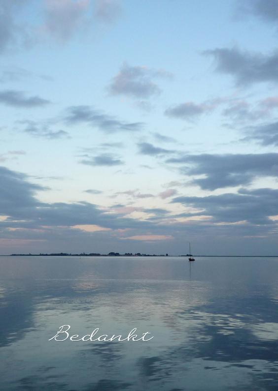 Rouwkaarten - Bedankt water - zee landschap