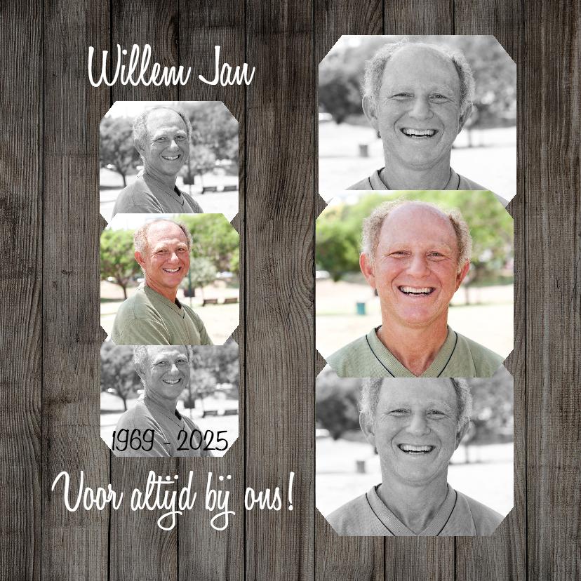 Rouwkaarten - Collage Voor altijd bij ons - BK