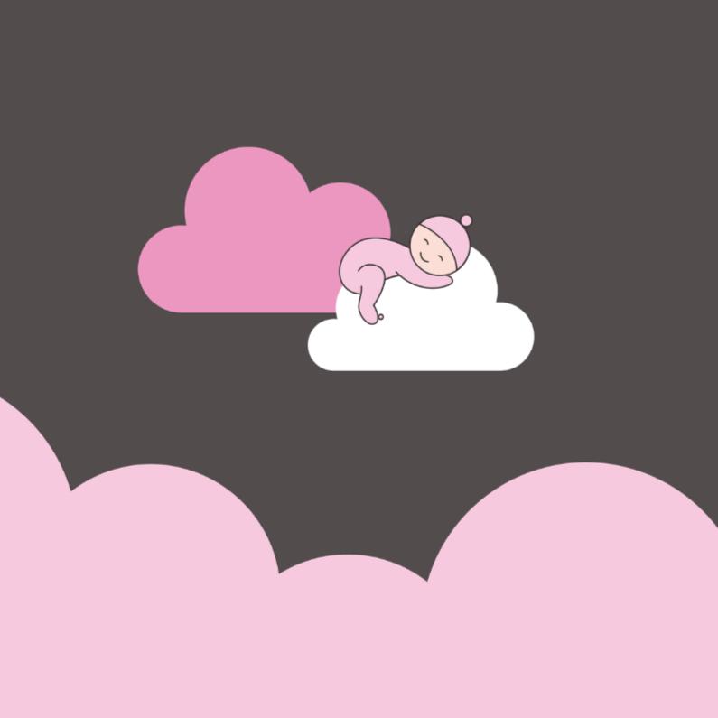 Rouwkaarten - Meisje op wolk
