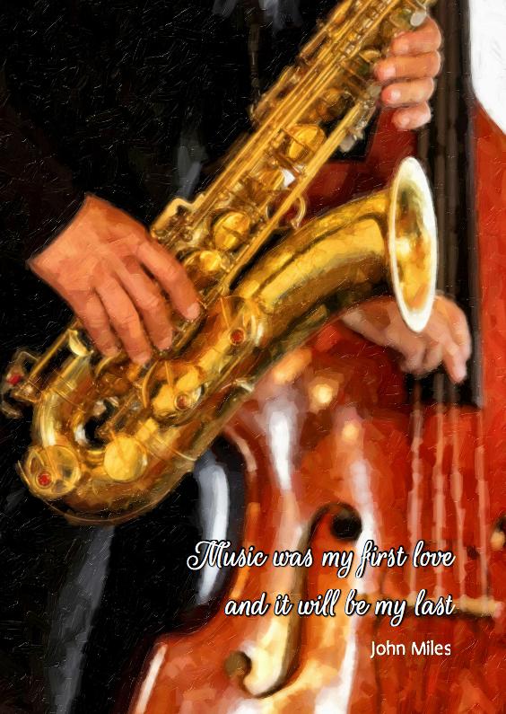 Rouwkaarten - Music was my first love