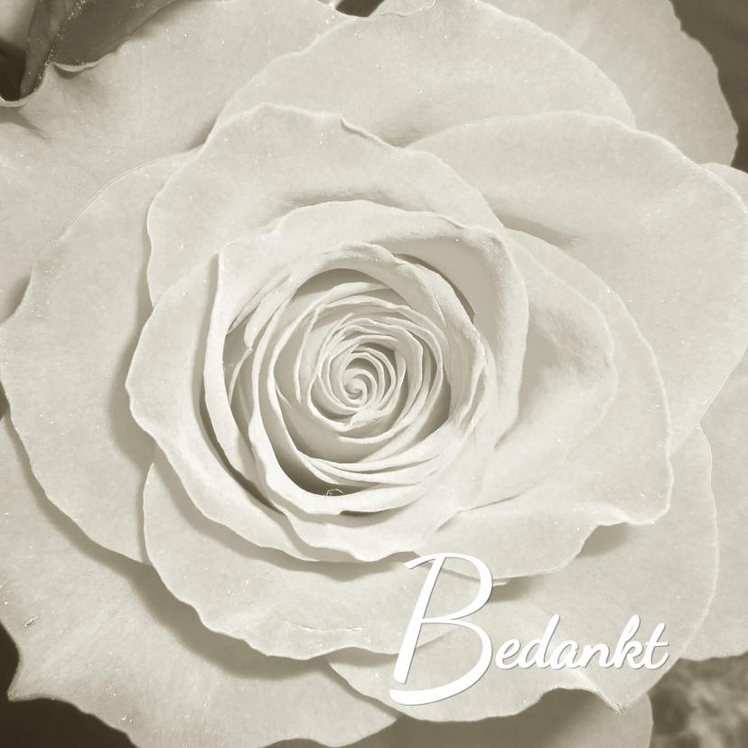 Rouwkaarten - Roos uit het hart