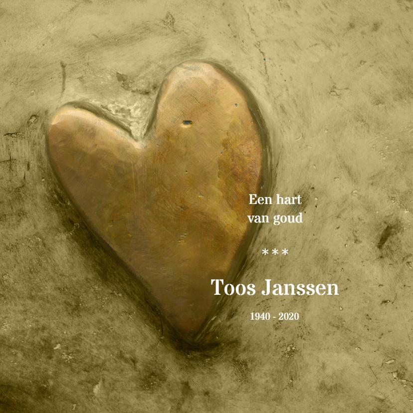 Rouwkaarten - Rouw een gouden hart