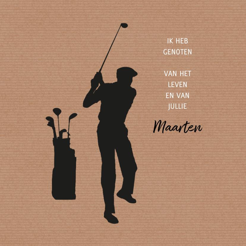 Rouwkaarten - Rouw hobby golf