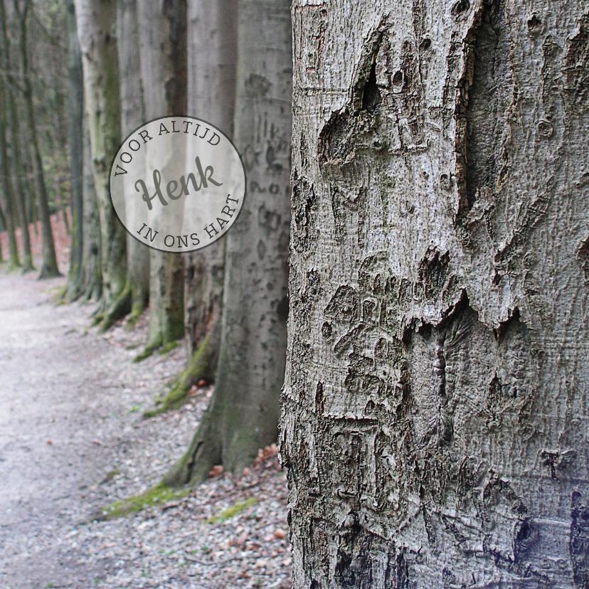 Rouwkaarten - Rouwkaart Bomenrij