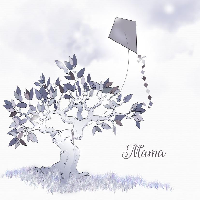 Rouwkaarten - Rouwkaart brief voor mama