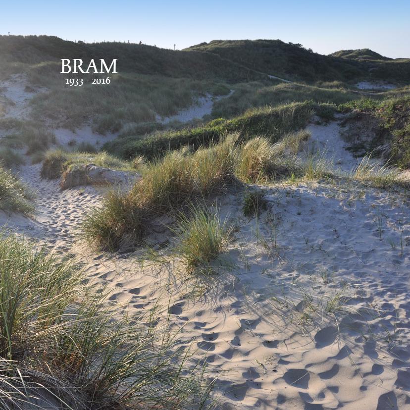 Rouwkaarten - Rouwkaart Duin en strand