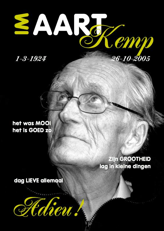 Rouwkaarten - Rouwkaart Eigen foto Cover Magazine 2 - OT