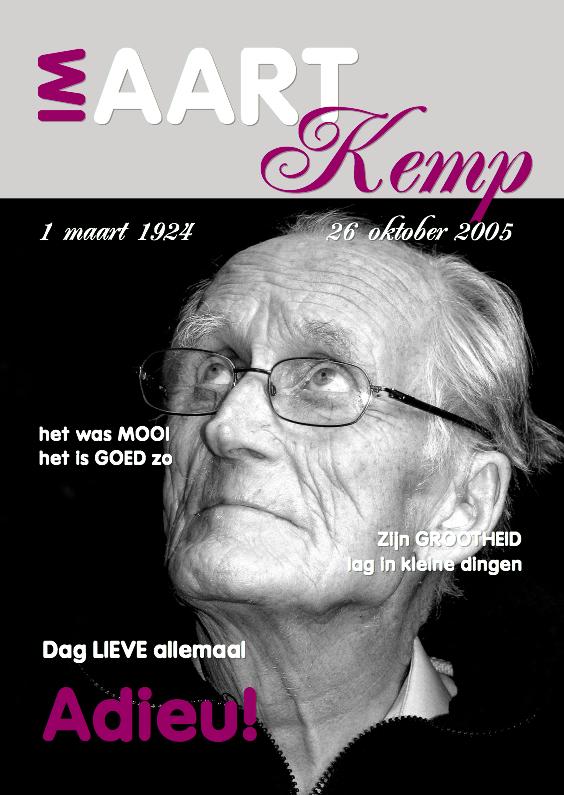Rouwkaarten - Rouwkaart Eigen foto Cover Magazine 3 - OT