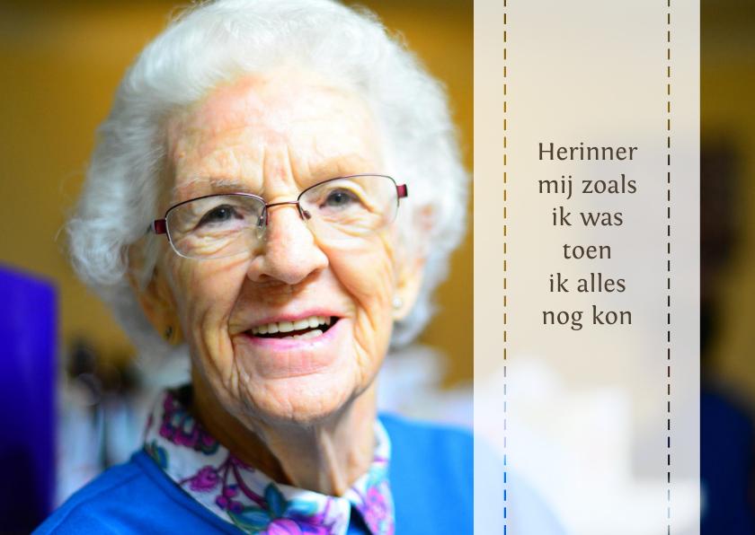 Rouwkaarten - rouwkaart herinner mij met foto