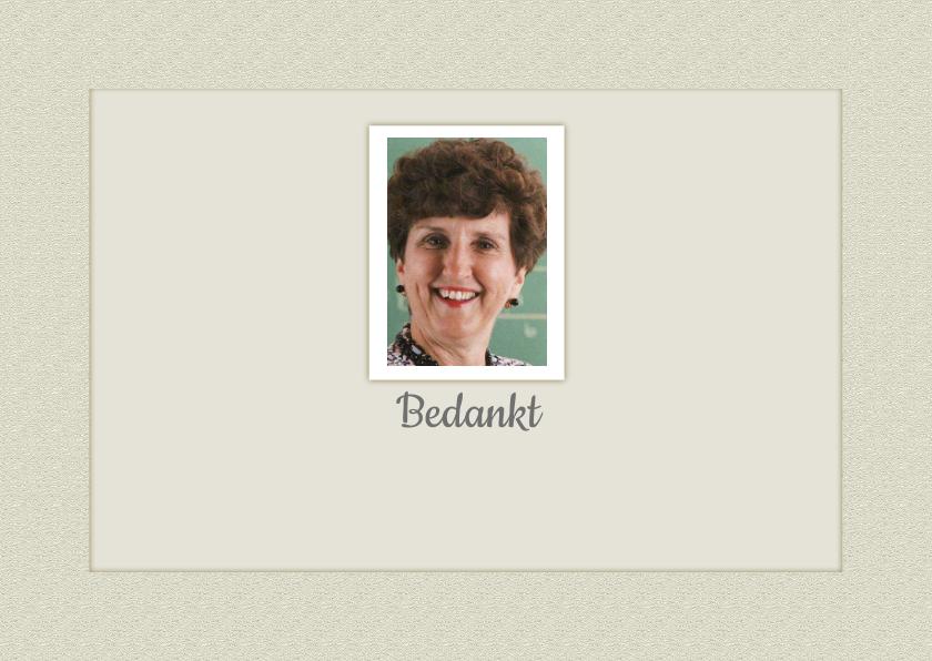 Rouwkaarten - Rouwkaart kader met foto en tekstvoorstel
