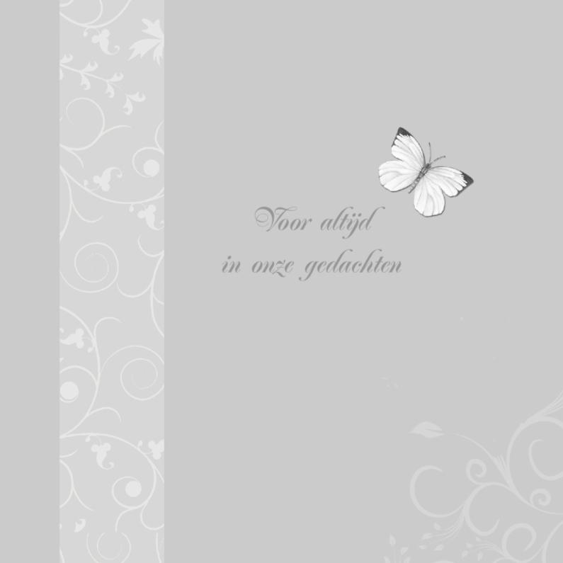 Rouwkaarten - rouwkaart met vlindertje