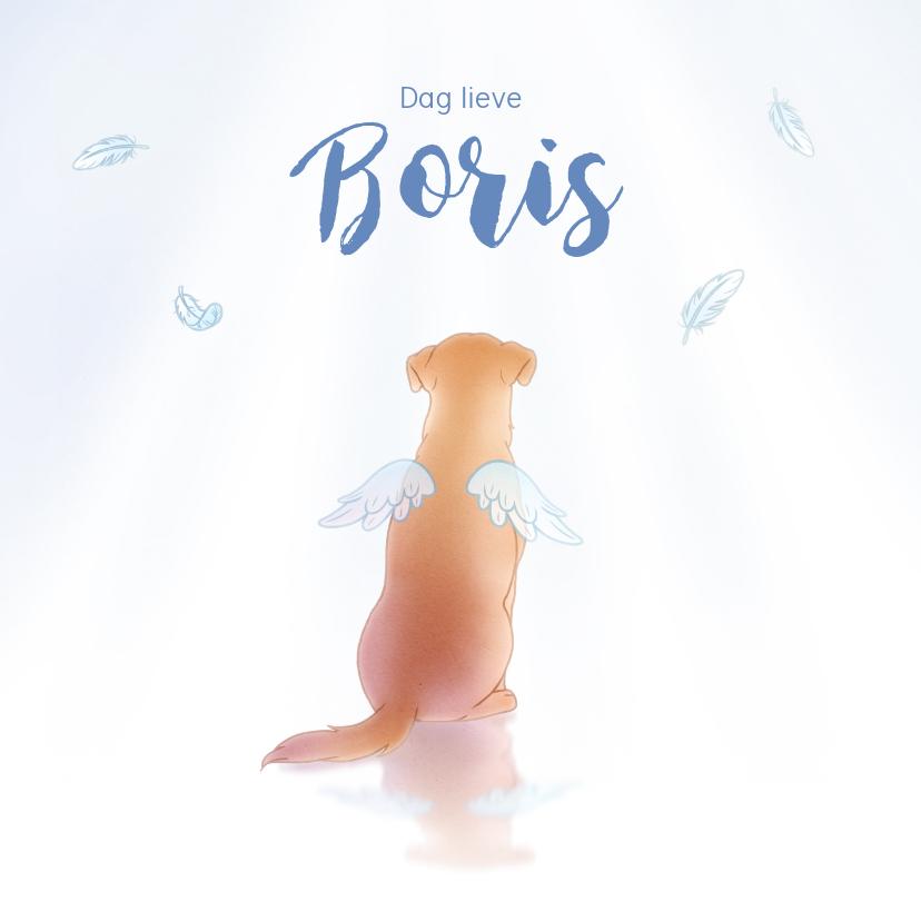 Rouwkaarten - Rouwkaarten hond engel huisdier