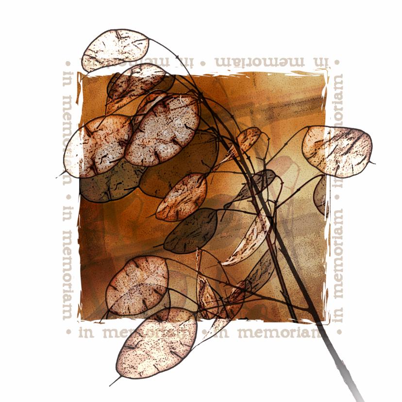 Rouwkaarten - YVON DROOM kruid rouwkaart