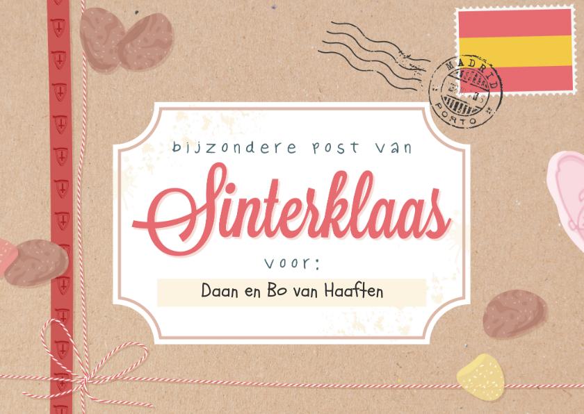 Sinterklaaskaarten - Echte post van Sinterklaas met daarin een brief van de Sint