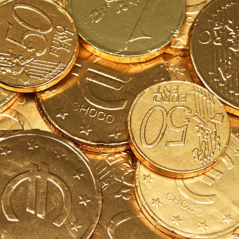 Sinterklaaskaarten - Geld - money - Euro munten Sinterklaas OT