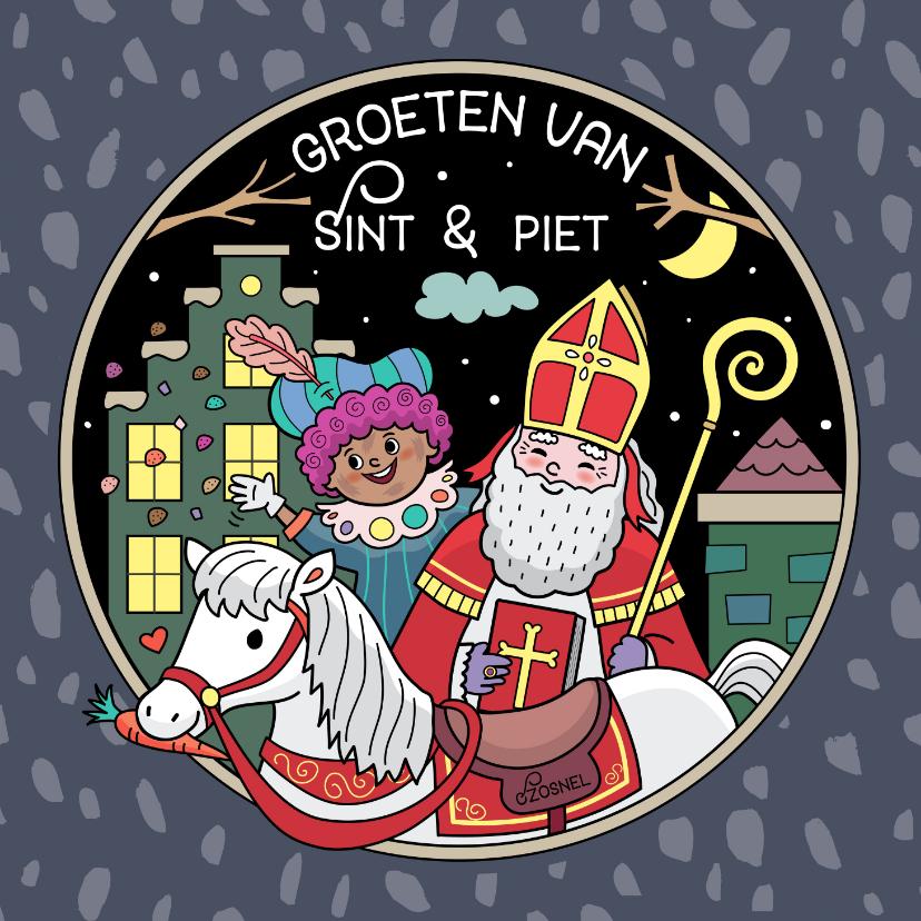 Sinterklaaskaarten - Groeten van Sint en Piet