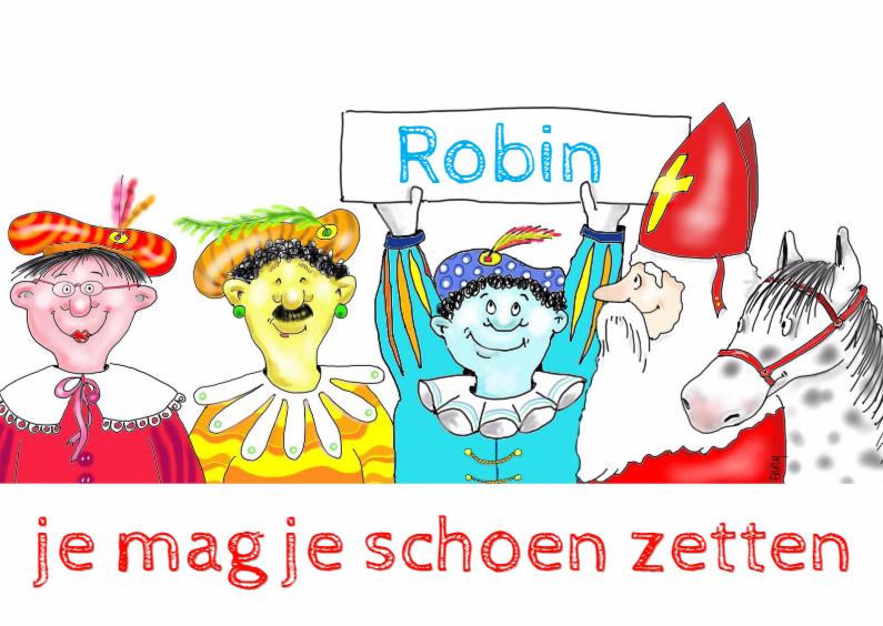 Sinterklaaskaarten - Kleurenpieten met Sint