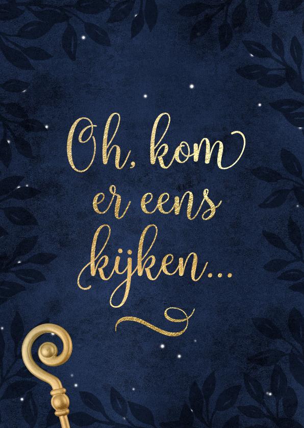 Sinterklaaskaarten - Sfeervolle uitnodiging Sinterklaas