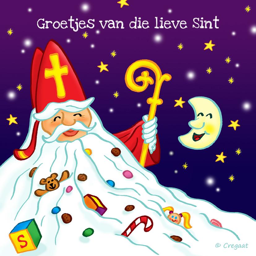 Sinterklaaskaarten - Sint en piet kado groetjes