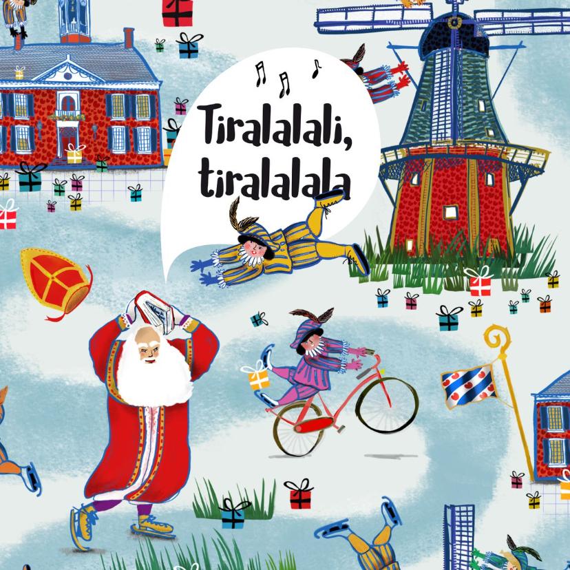 Sinterklaaskaarten - Sint-kaart (enkel) van het leukste pakpapier van Nederland