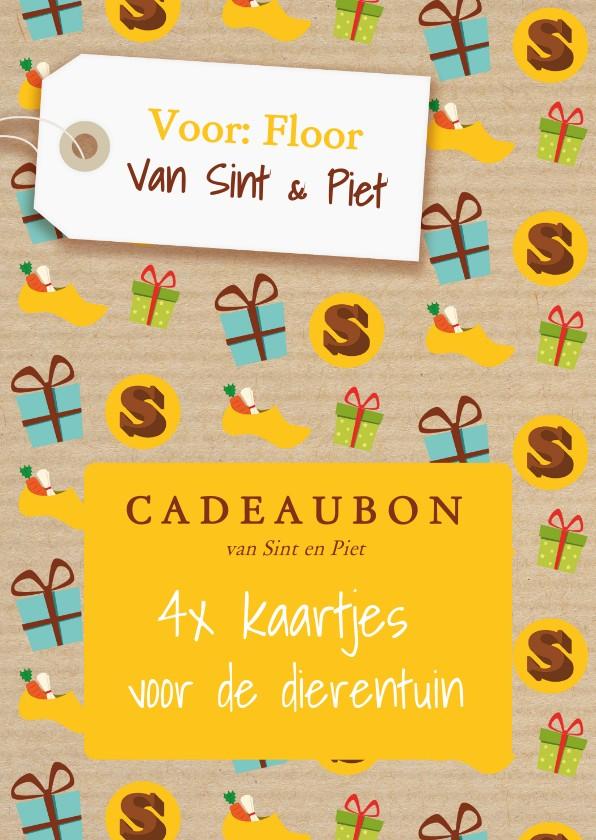 Sinterklaaskaarten - Sinterklaas - cadeaubon met naam