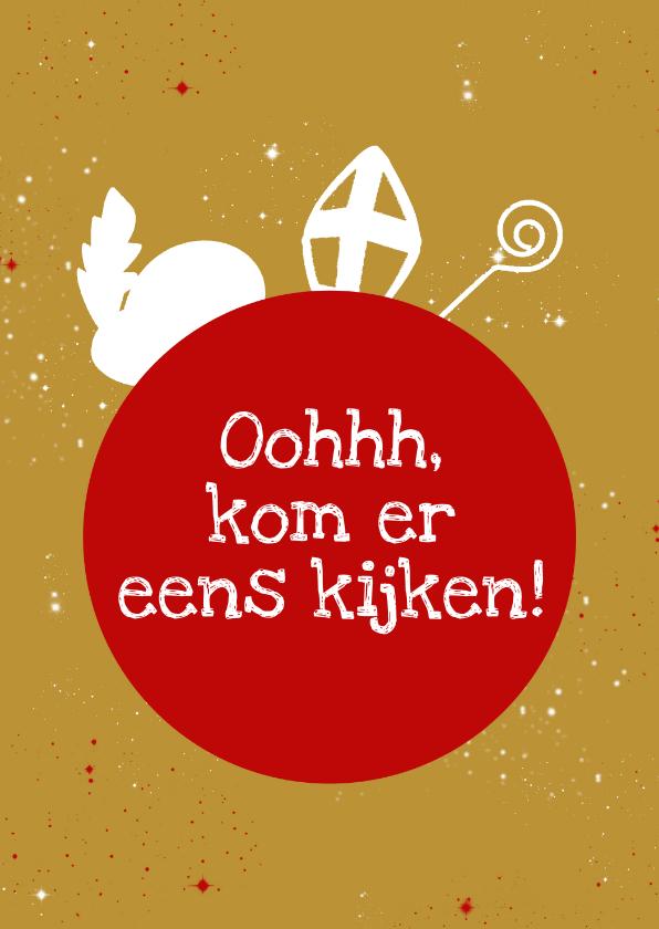 Sinterklaaskaarten - Sinterklaas in je schoentje