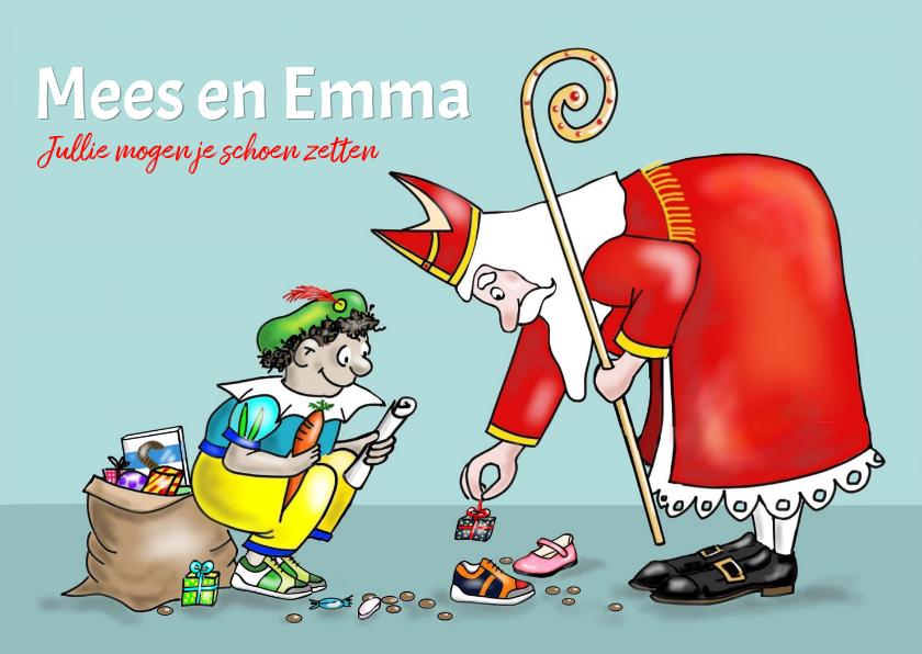 Sinterklaaskaarten - Sinterklaas - Jullie mogen je schoen zetten