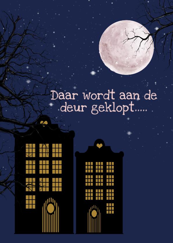 Sinterklaaskaarten - Sinterklaas klopt bij je aan