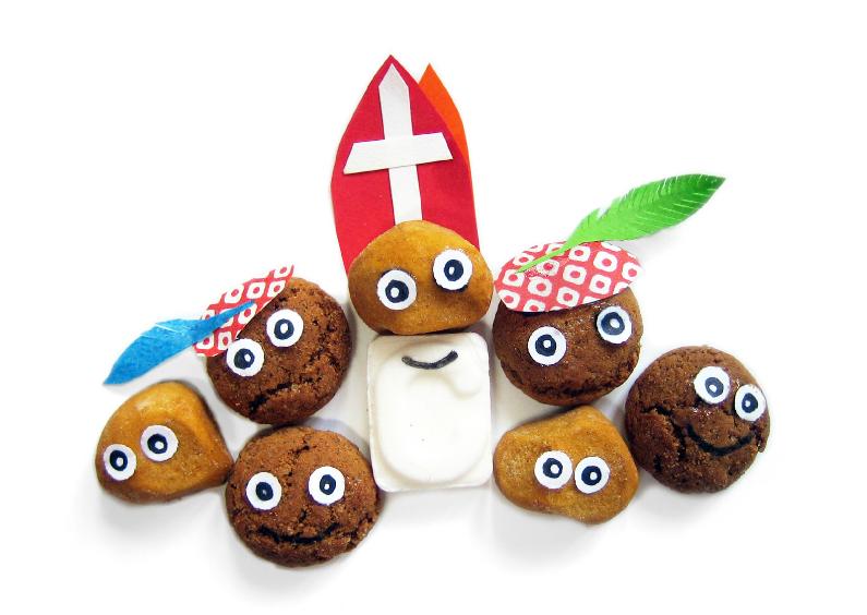 Sinterklaaskaarten - Sinterklaas kruidnoot