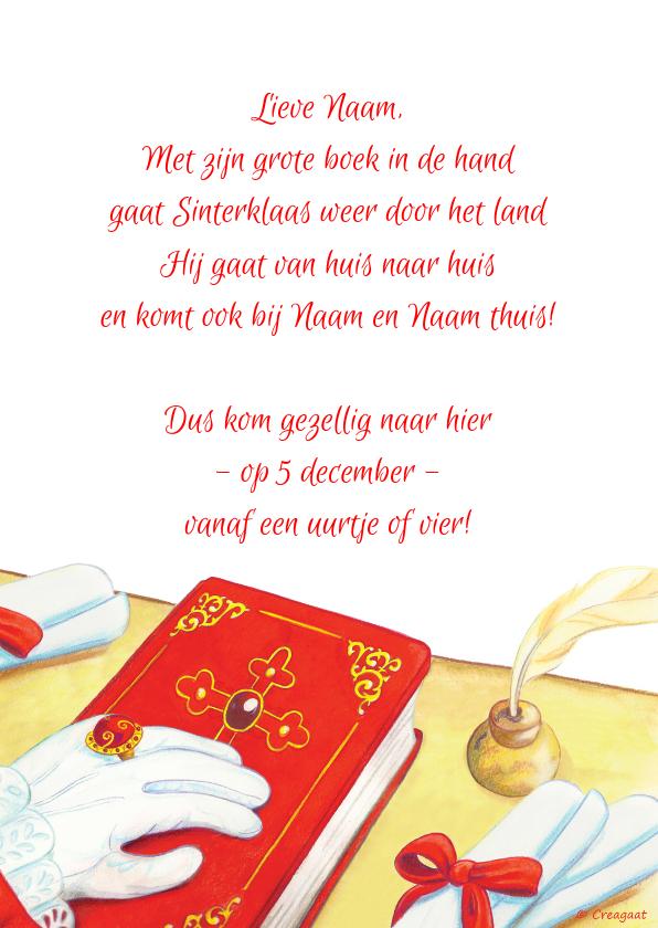 Sinterklaaskaarten - Sinterklaas nostalgisch boek