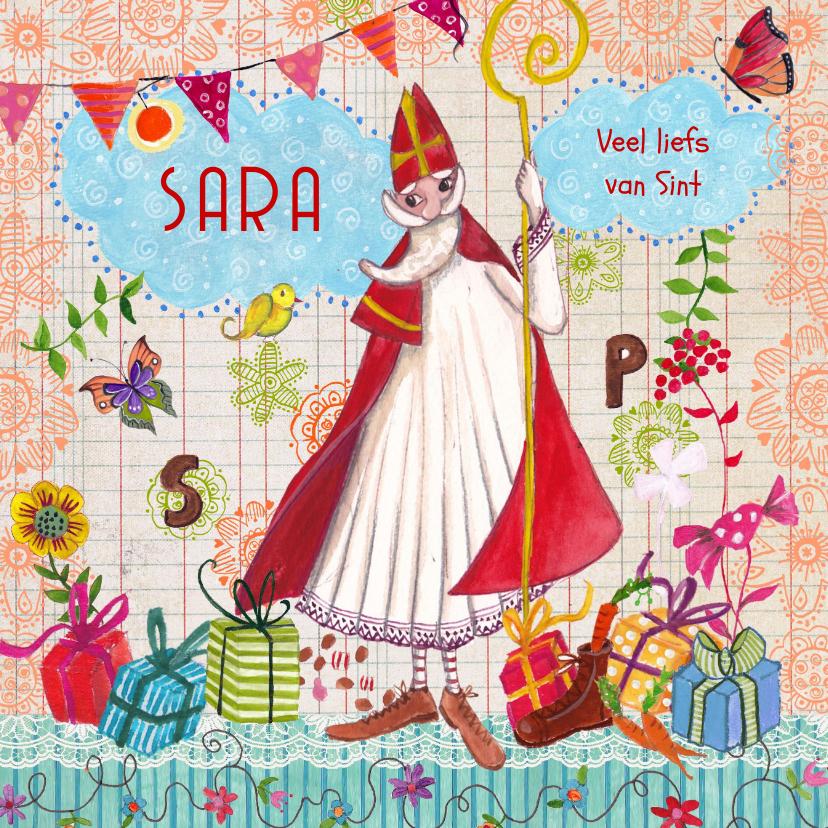 Sinterklaaskaarten - Sinterklaas Pakjes Avond Illustratie