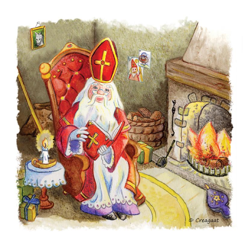 Sinterklaaskaarten - Sinterklaas prent nostalgisch