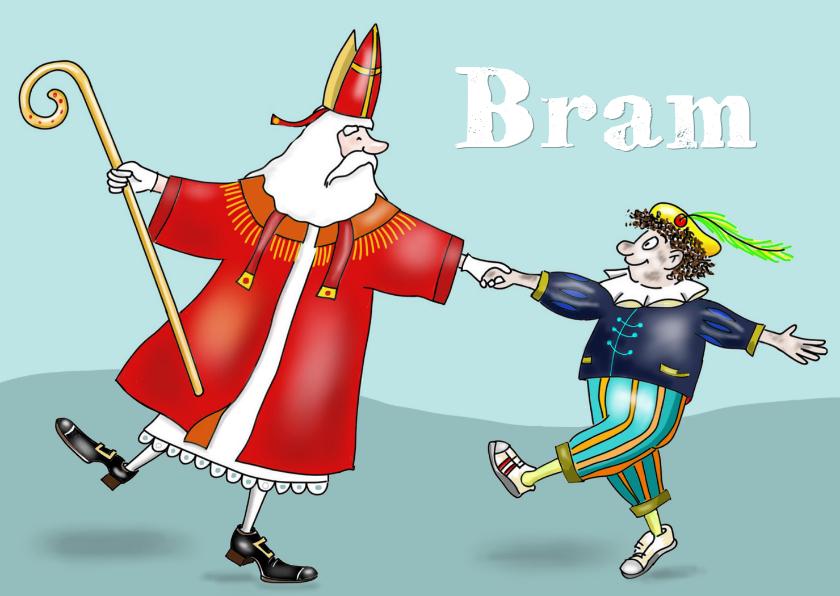 Sinterklaaskaarten - Sinterklaas - Sint en Piet dansend