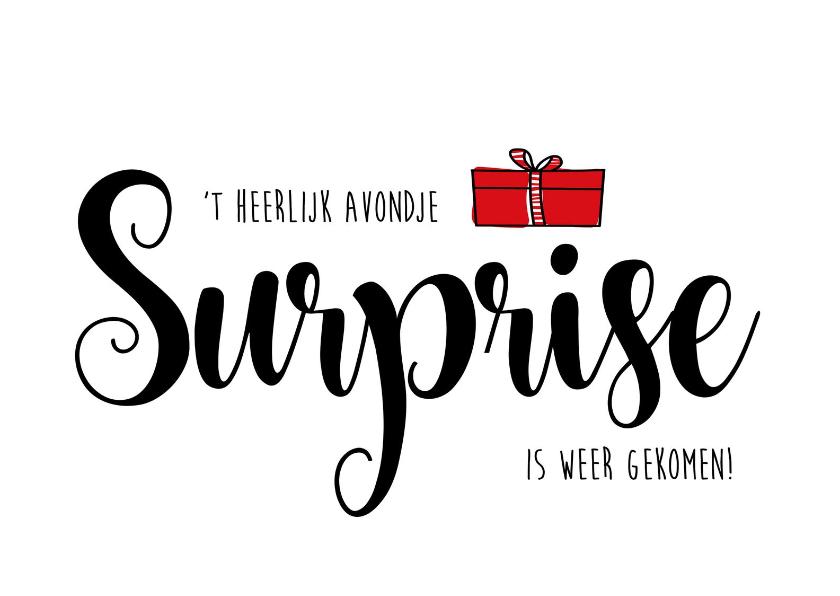 Sinterklaaskaarten - Sinterklaas surprise heerlijk avondje