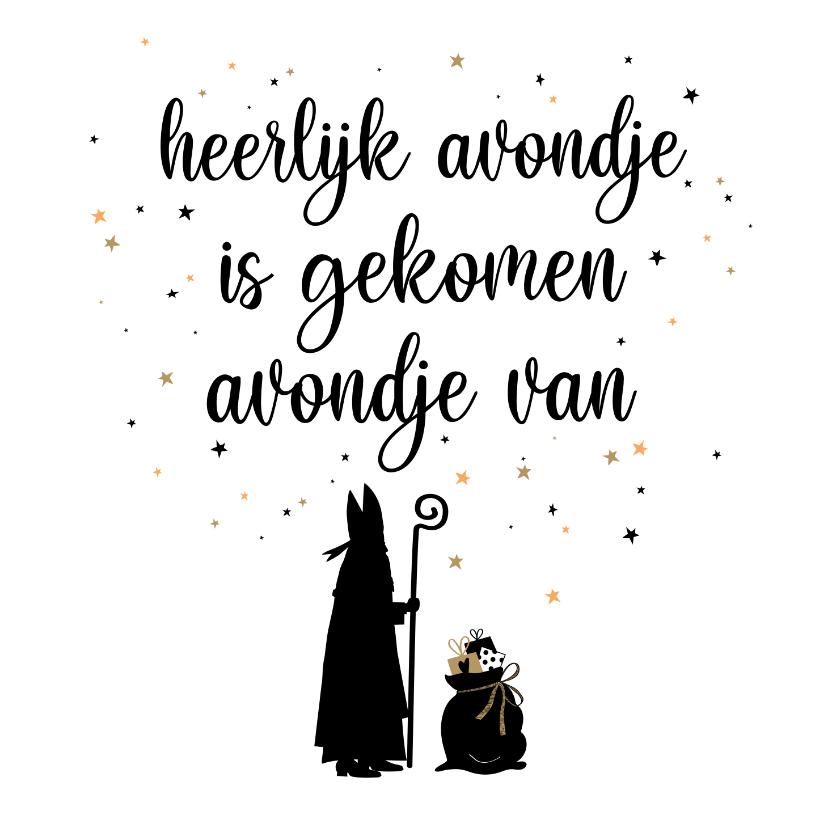 Sinterklaaskaarten - Sinterklaas uitnodiging voor sinterklaasavond met liedje