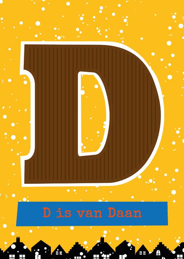 Sinterklaaskaarten - Sinterklaaskaart choco D